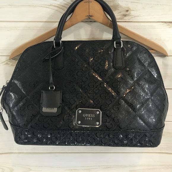 1f414e107685 Guess Handbags - Guess Black Large Satchel Purse Handbag NWOT!